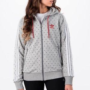 Adidas Pharrell Williams gray zip up hoodie